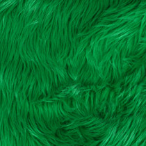 Kelly Green Shag Faux Fur