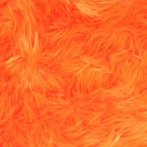 Orange Shag Faux Fur