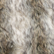 Ivory/Brown Stripe Luxury Faux Fur