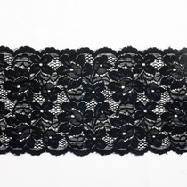 "Black 6"" Stretch Lace Trim"