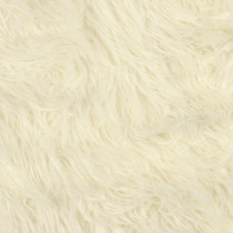 Ivory Mongolian Faux Fur