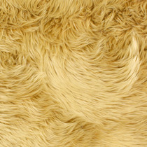 Tan Shag Faux Fur Fabric