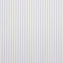Blue on White Pin Stripe Cotton Shirting Fabric