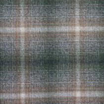 Brown, Tan, and Olive Green Plaid Brushed Twill