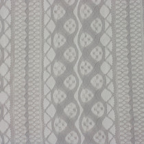 Light Grey Stripe Stretch Lace Fabric