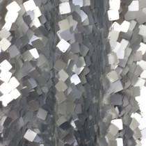 Silver Dangling Square Sequin Fabric
