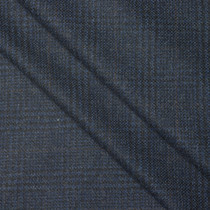 Navy Houndstooth Plaid Wool Suiting