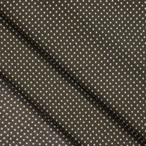 Brown Mini Polka Dot Cotton Lawn Fabric