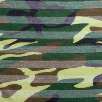 Camo Stripe Jersey Knit