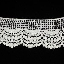 "3.5"" Offwhite Scalloped Cotton Lace Trim"