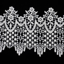 "5"" White Venise Lace Trim"