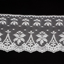 "4"" Lightweight White Lace Trim"