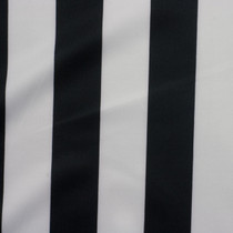 Black and White Striped Techno Knit Fabric