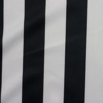 Black and White Striped Techno Knit Fabric