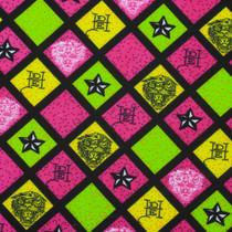 Pink, Green, and Yellow Ed Hardy Print Nylon/Lycra