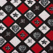 Red, White, and Black Ed Hardy Print Nylon/Lycra