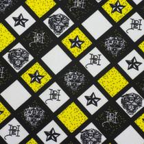 Yellow, White, and Black Ed Hardy Print Nylon/Lycra