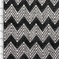 Black and White Chevron Crochet Lace