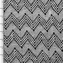 White Chevron Crochet Lace