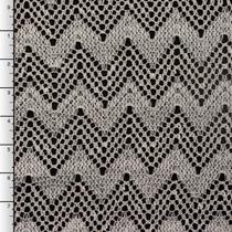 Ivory Chevron Crochet Lace
