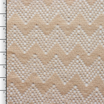 Tan Chevron Crochet Lace