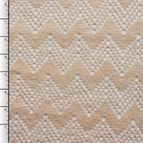 Tan Chevron Crochet Lace