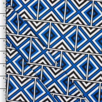 Royal Blue Geometric Tribal ITY Knit Print