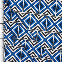 Royal Blue Geometric Tribal ITY Knit Print