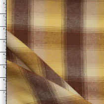 Brown, Yellow, and Ivory Plaid Flannel