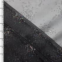 Black Sparking Beaded Organza