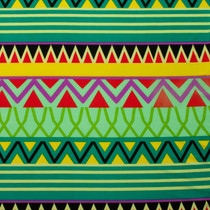 Green, Red, and Yellow Tribal ITY Jersey Knit Print