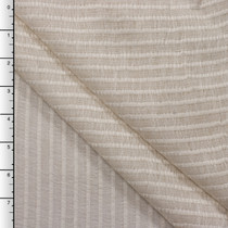 Natural Sheer Stripe Lightweight Linen