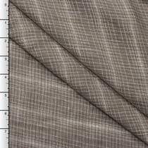 Brown and Metallic Gold Stripe Lightweight Linen