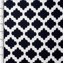 Black and White Modern Diamond Rayon Lycra Knit Print