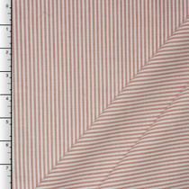 Red Stripe Robert Kaufman Career Oxford Cotton/Poly Blend