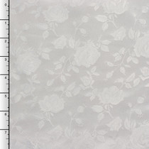 White on White Rose Brocade