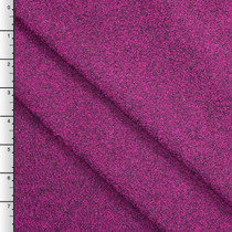 Hot Pink Designer Wool Boucle Fabric