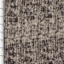 Ivory and Black Designer Wool Boucle