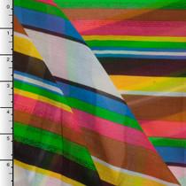 Vibrant Striped Cotton Voile