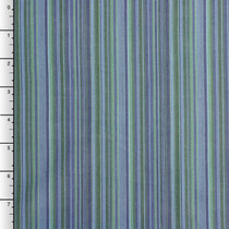 Lime and Blue Barcode Striped Cotton