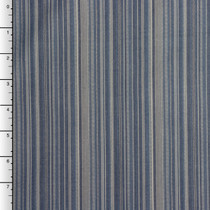 Blue and Grey Barcode Stripe Cotton by Robert Kaufman