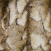 Brown/Tan/Ivory Brandy Fox Luxury Faux Fur