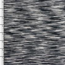 Light Grey, Charcoal, and Black Designer Heather Jersey Knit