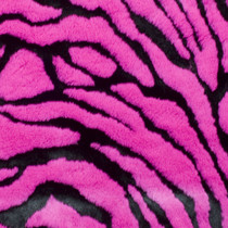 Hot Pink Tiger Faux Fur