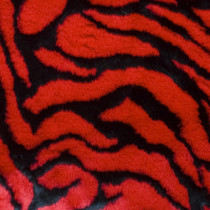 Red Tiger Faux Fur