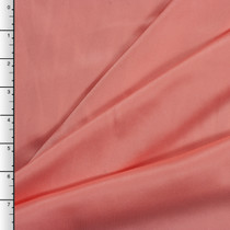 Coral Silk Crepe Back Satin