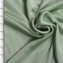Baby Mint Green Silk Crepe Back Satin