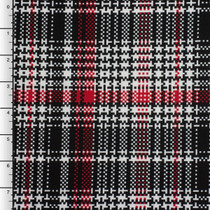Red, Black, and White Houndstooth Plaid Lycra