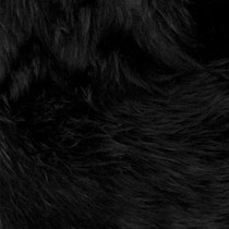 Black Shag Faux  Fur
