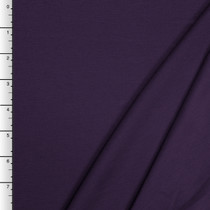 Plum Midweight Stretch Ponte De Roma Solid